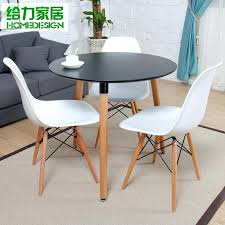 dessert small round dining table and chairs child fashion simple negotiation combination tea cafe tables replica round dining table