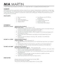 Executive Administrative Assistant Resume Skills Sample Of