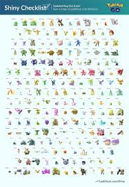 Shiny Pokemon Evolution Chart