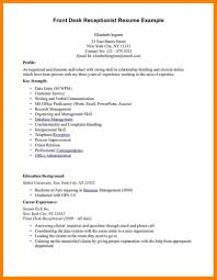 Receptionist Job Resume Objective Hotel Resume Objective Hospitality Sales Entry Level Examples 21