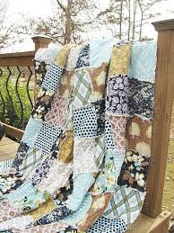 Best 25+ King size quilt ideas on Pinterest | King size quilt ... & King Size Quilt, Rag, Modern Meadow, navy light blue brown patchwork, ALL Adamdwight.com