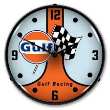 gulf racing gt40 retro vintage led