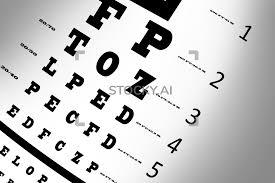 Image Of An Eye Sight Test Chart