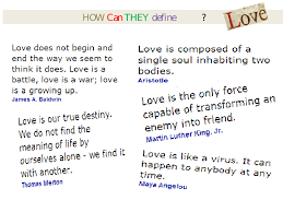 How Can You Define Love PPT Adorable Define What Is Love