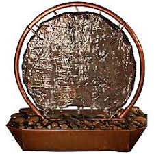 table fountain. moonrise natural copper and slate 18\ table fountain i