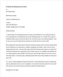 Letter Of Personal Apology Enchanting Professional Apology Letter 44 Free Word PDF Format Download