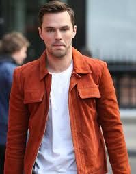 Nicholas Hoult Radio Studios Orange Jacket Ujackets