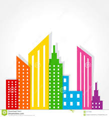 Real Estate Design Abstract Colorful Real Estate Background Design Stock Vector