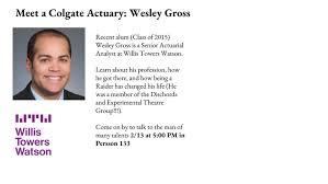 Meet a Colgate Actuary: Wesley Gross - Colgate Calendar