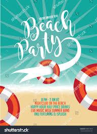Beach Flyer Beach Party Poster Flyer Marketing Banner Stock Illustration