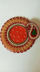 Pooja Ki Thali Design Pooja Thali Thali Decoration Ideas Diwali Diy Acrylic