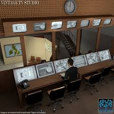 Tv studio furniture Modern Vintage Tv Studio Previous Next Kidskunstinfo Vintage Tv Studio 3d Models Bluetreestudio