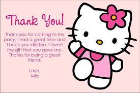 Printable Hello Kitty Invitations Personalized Hello Kitty Thank You Cards Click To Personalize