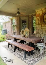 easy diy outdoor dining table. back patio easy diy outdoor dining table p