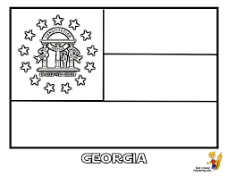 Small Picture Ga State Flag Coloring Page Coloring Coloring Pages