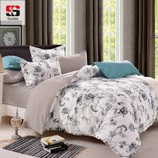 sookie queen size bedding sets past bird printed fl king size duvet cover set pillowcases comforter