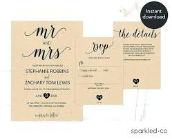Rustic Wedding Invitation Format Free Printable Templates Download