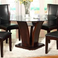 round glass top dining table crown mark espresso round glass top dining table with inverted base