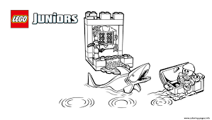 Small Picture lego juniors pirates shark Coloring pages Printable