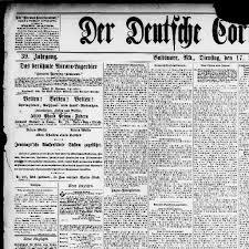 Der Deutsche Correspondent Baltimore Md 1841 1918 June 17