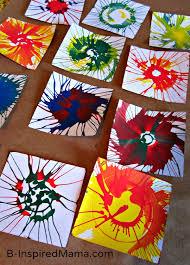 spin art art bunting diy crafts kids arts crafts