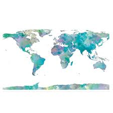 watercolor world map poster 24
