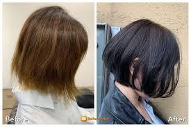 傷んだ髪をオシャレで人気のくびれショートボブに妊婦育児中の髪型は