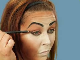 darken brows for cat makeup