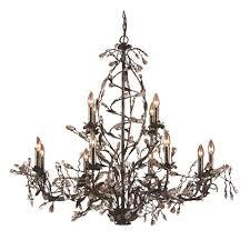 elk lighting circeo twelve light chandelier