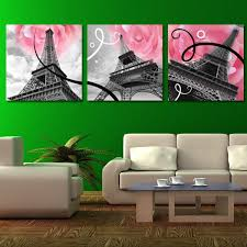 >art wall painting black white canvas wall art the eiffel tower love  art wall painting black white canvas wall art the eiffel tower love flower home decorative art