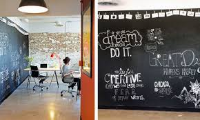 O Chalkboard Walls In Office Space