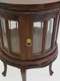 Details Zu Beistelltisch Teeschrank Barschrank Antik Stil Massivholz Rund Nussbaum 3819