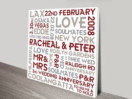 wedding personalised canvas art couples canvas
