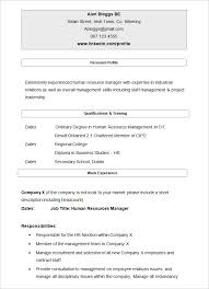 40 Hr Resume Cv Templates Hr Templates Free Premium Curriculum Vitae