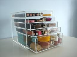 acrylic makeup storage drawers clear a organizers