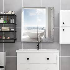 Wall mounted medicine cabinet with mirror Depot Waterjoy Mirror Cabinet Wallmounted Bathroom Mirror Medicine Cabinet With Mirrored Doors And Shelves Home Fashions Cabinet Cupboard With Modern Design Oppein Waterjoy Mirror Cabinet Wallmounted Bathroom Mirror Medicine