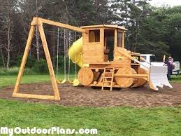 diy wooden swing set plans free new diy bulldozer playset diy plans of 18 inspirational