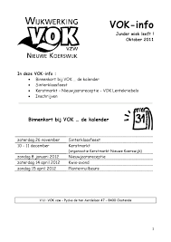 Vok Info 1 2011 By Vok Oostende Issuu