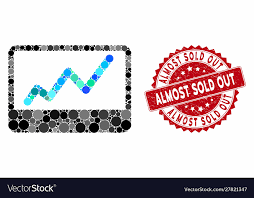 Collage Stock Market Chart With Distress Almost