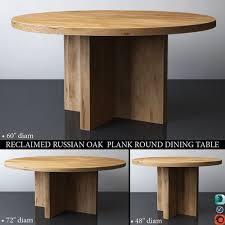 reclaimed russian oak plank round dining table 3d model max obj mtl 3ds fbx mat 1