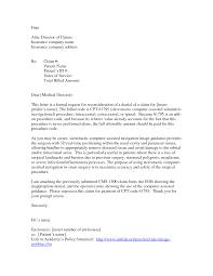 Sample Insurance Claim Letters Downloads Sample Medical Certificate