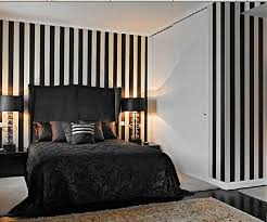 Black And White Striped Wallpaper In Bedrooms   Bing Images