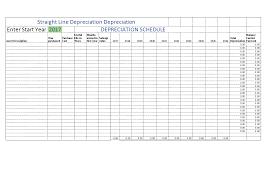 Straight Line Depreciation Excel Templates At
