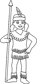 Native American Indian Girl Coloring Pages Wecoloringpagecom