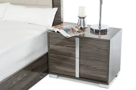 stunning white lacquer nightstand furniture. Modrest Modern Grey Nightstand Dsc Italian Nightstands Chrome Leg Table Interior Decorating Trends Wall Mounted Console Stunning White Lacquer Furniture N