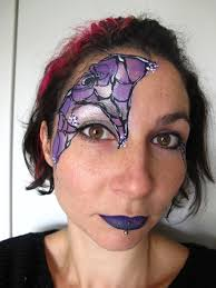 spider web face paint for c alana dunlevy