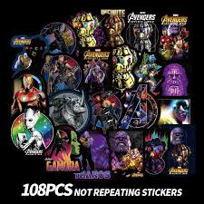 Avengers Endgame Stickers Ironman Thor Hulk <b>Marvel</b> Sticker ...
