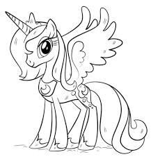 Disegni Da Colorare Degli Unicorni Princess Luna Blogmammait