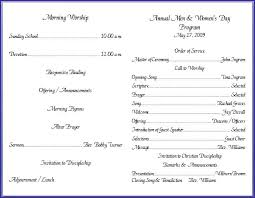 Templates For Church Programs Church Service Program Template