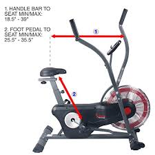 fan exercise bike. sunny health \u0026 fitness air bike trainer, fan exercise with unlimited resistance, cross